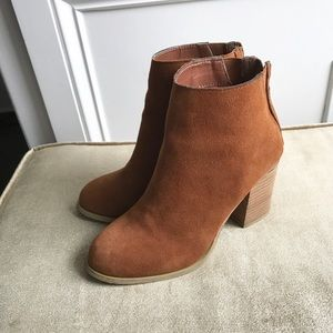 UO Urban Outfitters Tan Booties